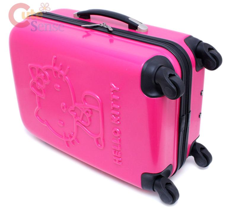 94001fcf4cd1 Sanrio Hello Kitty Luggage Trolley Bag ABS 20