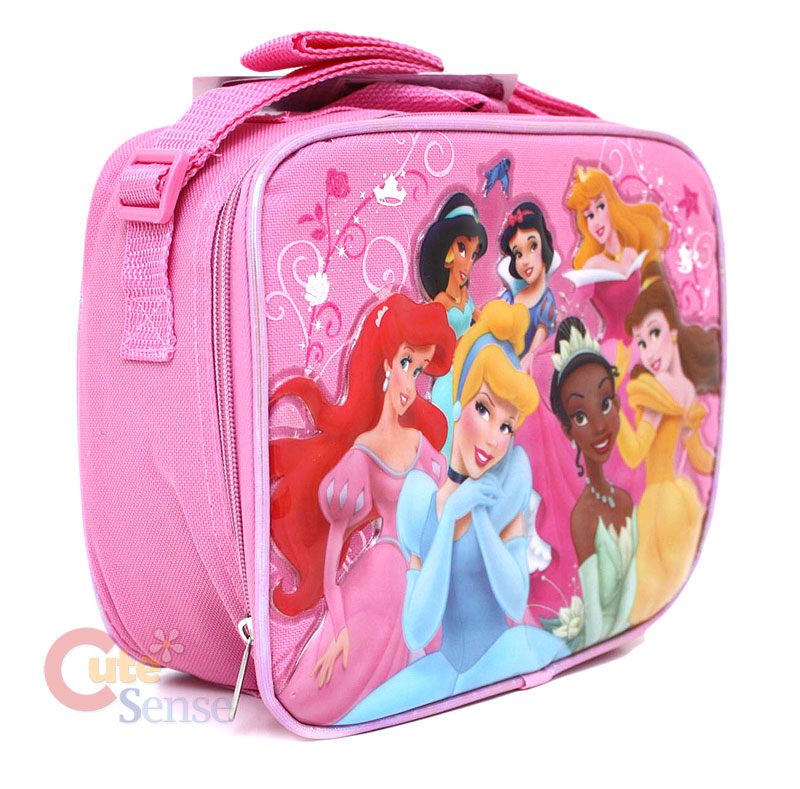 dab6cd9aa64 Disney Princess School LUNCH BOX Pink Bag w Tiana on PopScreen