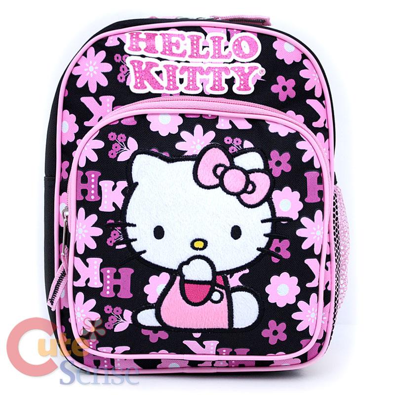 Sanrio Hello Kitty School Backpack Toddler Bag :Black
