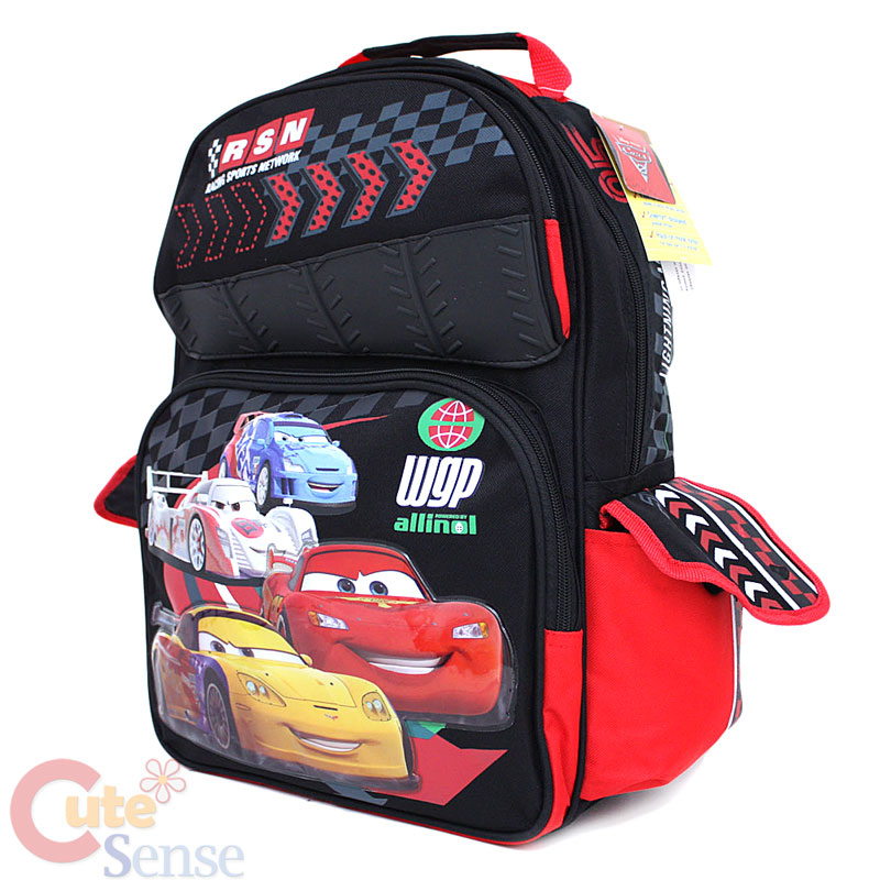 2698d62bf25 Disney Cars Mcqueen Large School Backpack Lunch Bag Set on PopScreen