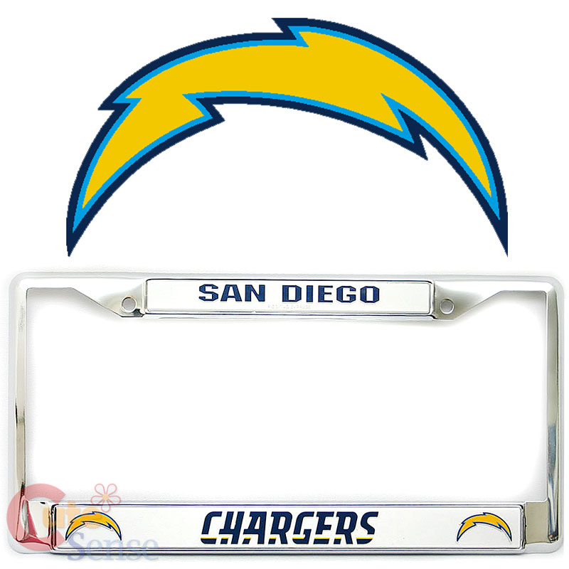 San Diego Chargers Email: San Diego Chargers Car Auto License Plate Frame Metal