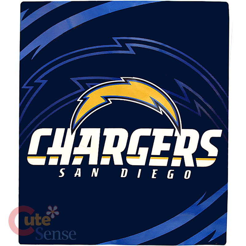 "San Diego Chargers Blanket: San Diego Chargers Mink Plush Blanket Queen 76""X94"" NFL"