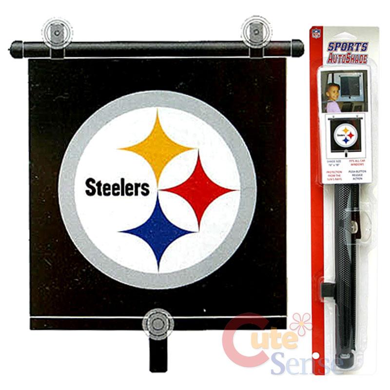 979abca25 NFL Pittsburgh Steelers Auto Car Rare Window Sun Shade on PopScreen