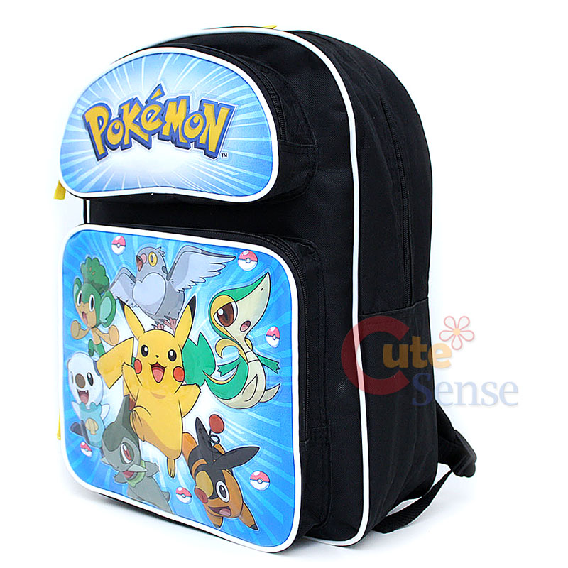 Details about Pokemon Black & White School Large Backpack &Lunch Bag