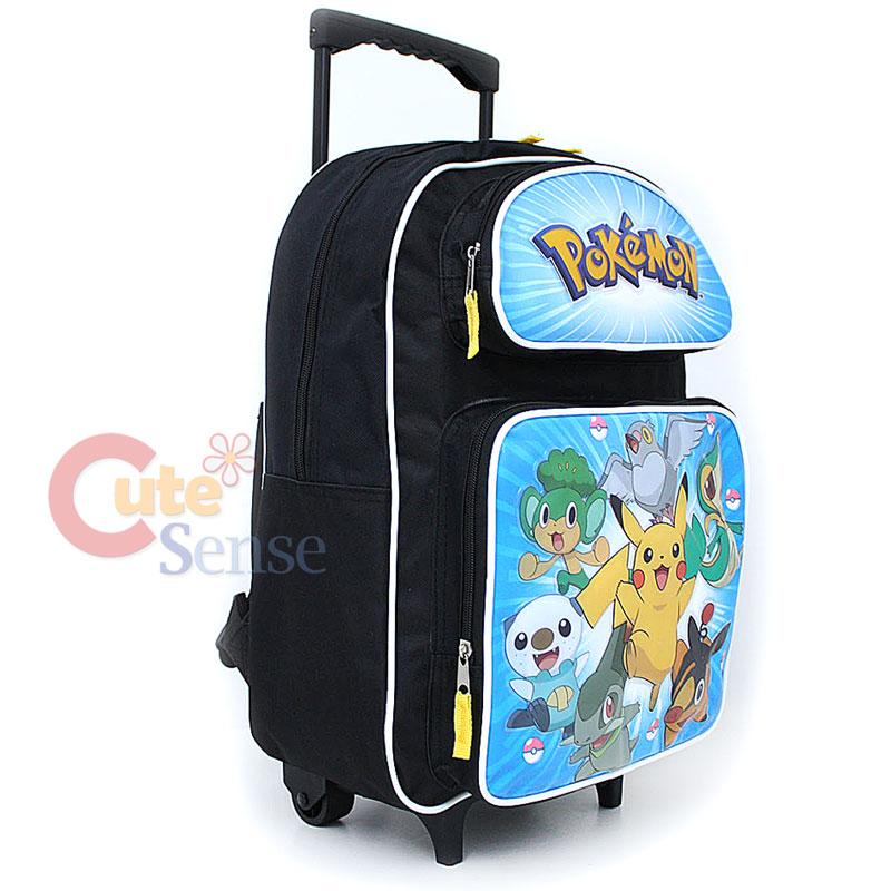 Pokemin Black and White School Roller Backpack Rolling Bag 3.jpg