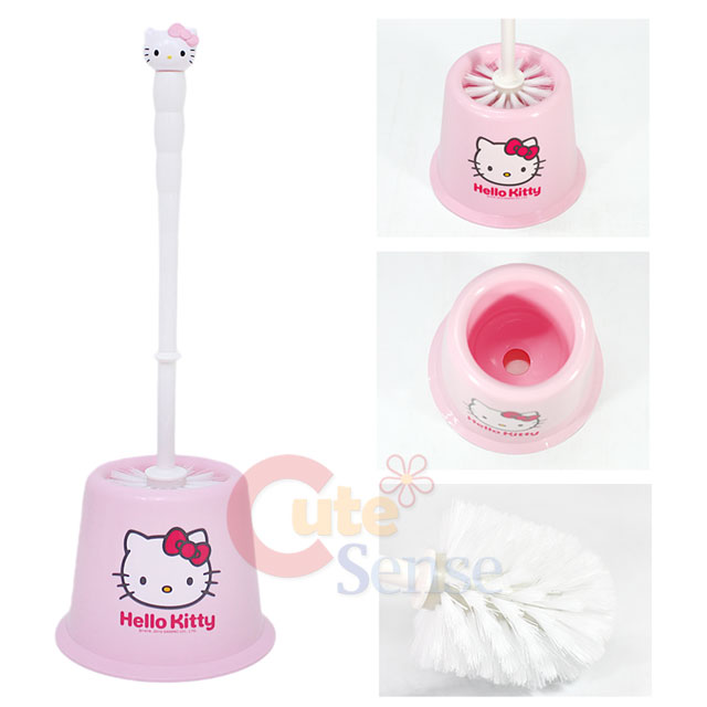 sanrio hello kitty bathroom toilet brush holder pink ebay. Black Bedroom Furniture Sets. Home Design Ideas