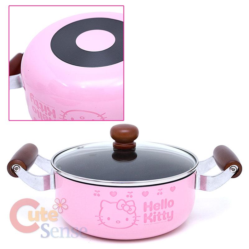 Hello Kitty Wooden Kitchen Set: Sanrio Hello Kitty Kitchen Cookware Set Pink Pot Fly Pan