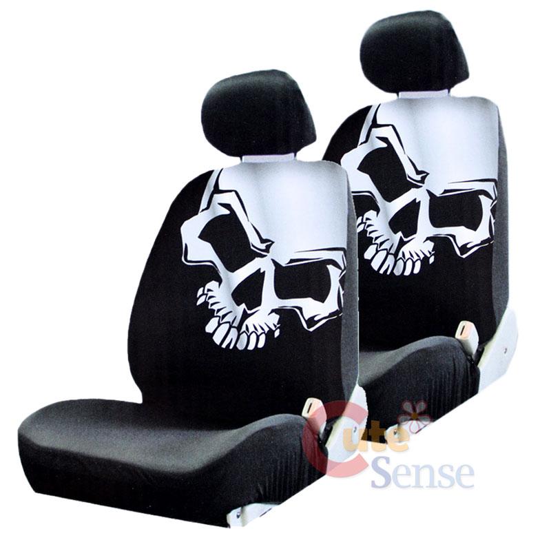 Skulls Car Seat Covers Set