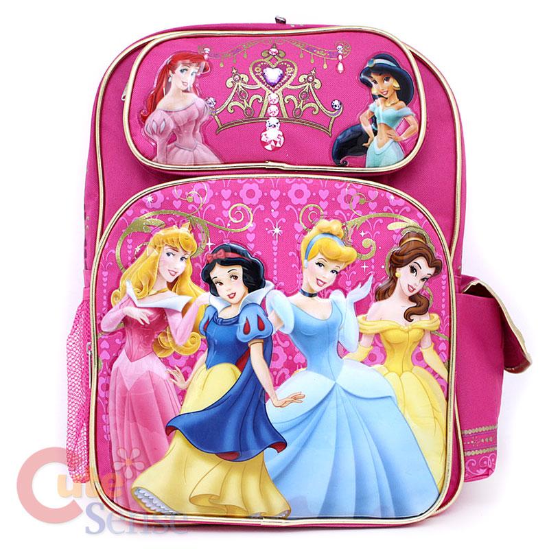 Disney Princess School Backpack Lunch Bag Large Set
