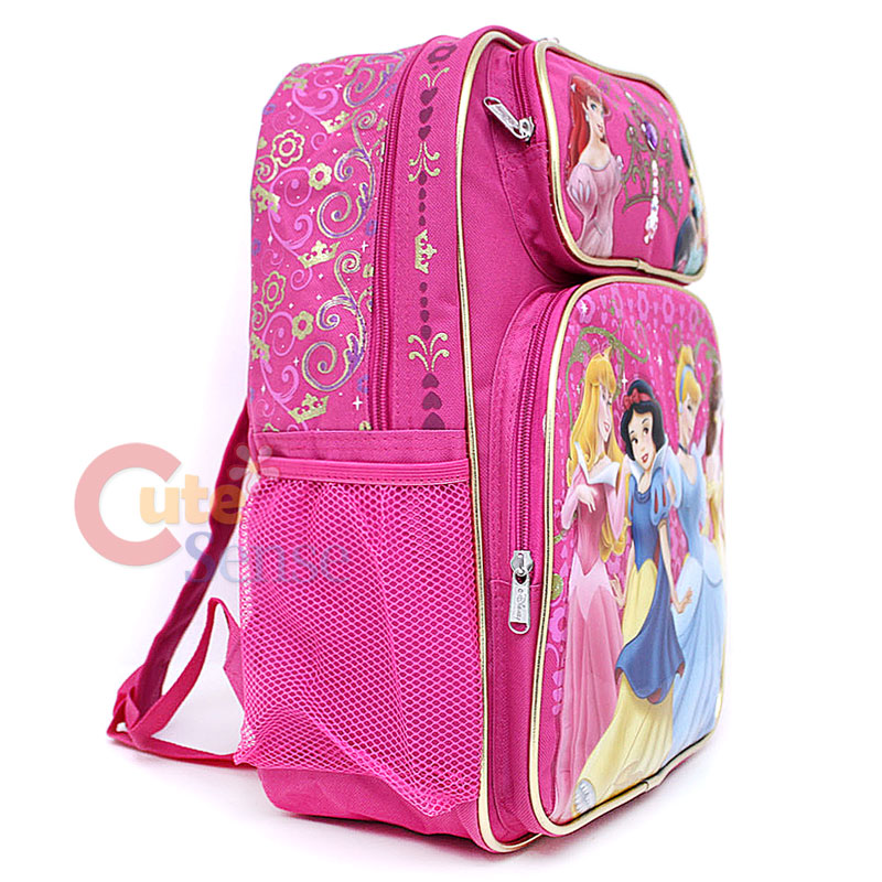 Disney Princess School Backpack Lunch Bag Large Set