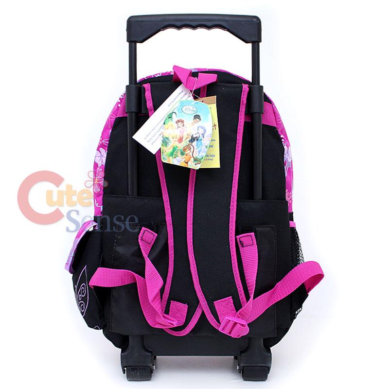 TinkerBell Fairies School Roller Backpack Bag 16 Pink