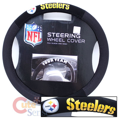 Pittsburgh Steelers Car/Truck Steering Wheel Cover -Mesh Sports