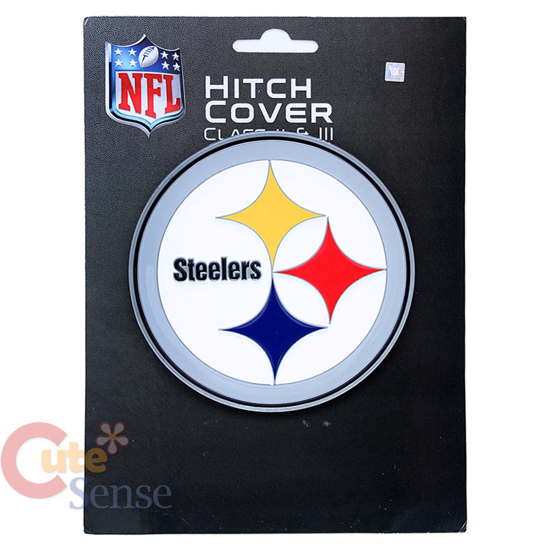 68cd35c55ba43d NFL Pittsburgh Steelers Metal Hitch Cover Trailer Truck NFL Auto Accessories