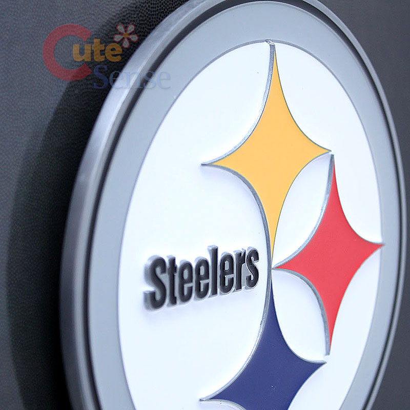 NFL Pittsburgh Steelers Metal Hitch Cover Trailer Truck NFL Auto Accessories