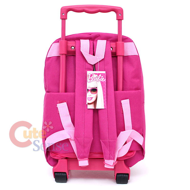 Barbie School Roller Backpack Large Rolling Bag 16in Ebay
