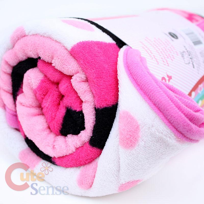 Sanrio Hello Kitty Plush Throw Blanket Microfiber Pink
