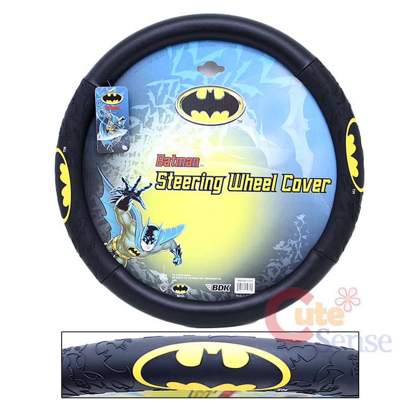Marvel Batman Auto Car Steering Wheel Cover Color Logo