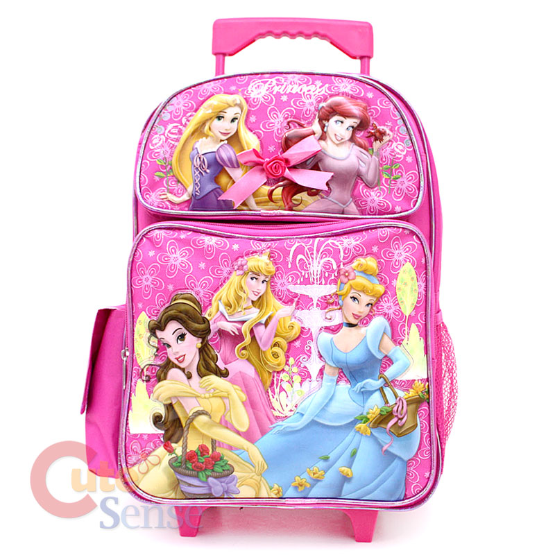 4e73759b6a9 Disney Princess w  Tangled School Roller Backpack Rolling Bag 16 on ...