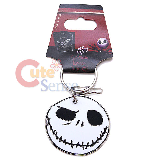 Details about Nightmare Before Christmas Jack Face Key Chain Metal ...