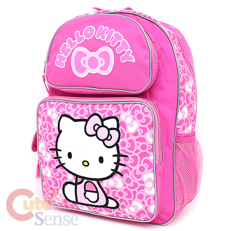 """Sanrio Hello Kitty 16"""" Large School Backpack Lunch Snack ..."""
