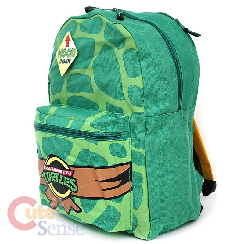 TMNT Ninja Turtle Shell Backpack w/ Hood and 4 Mask Tirtle ...