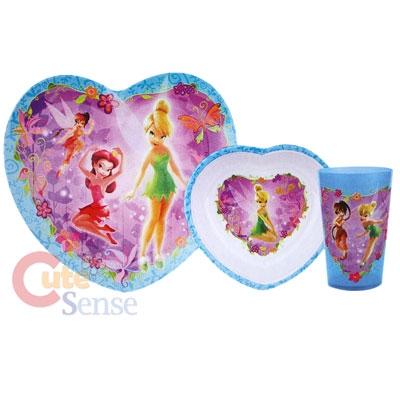 sc 1 st  Cutesense.com & Disney Tinkerbell Fairies Kids Dining - 3pc Dinner ware Set Purple