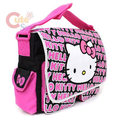 48c0dfd49c Hello Kitty School Messenger Bag   Diaper Bag Big Face   Typo on ...