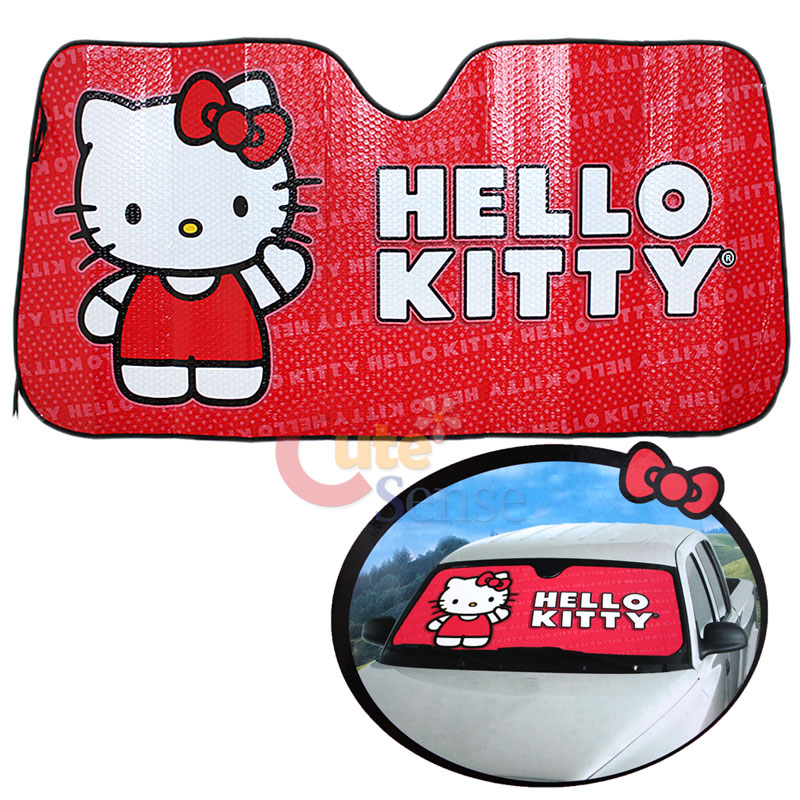 Hello Kitty Windshield Shade Front Window Sun Shade Core Auto ...