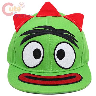 yo gabba gabba brobee flat bill cap hat adjustable