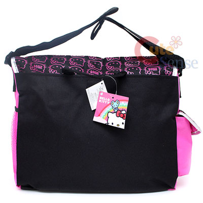 Sanrio Hello Kitty School Messenger Bag Diaper Bag Faces 3
