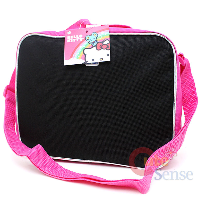 Hello Kitty School Roller Backpack Lunch Bag Face outlines 7