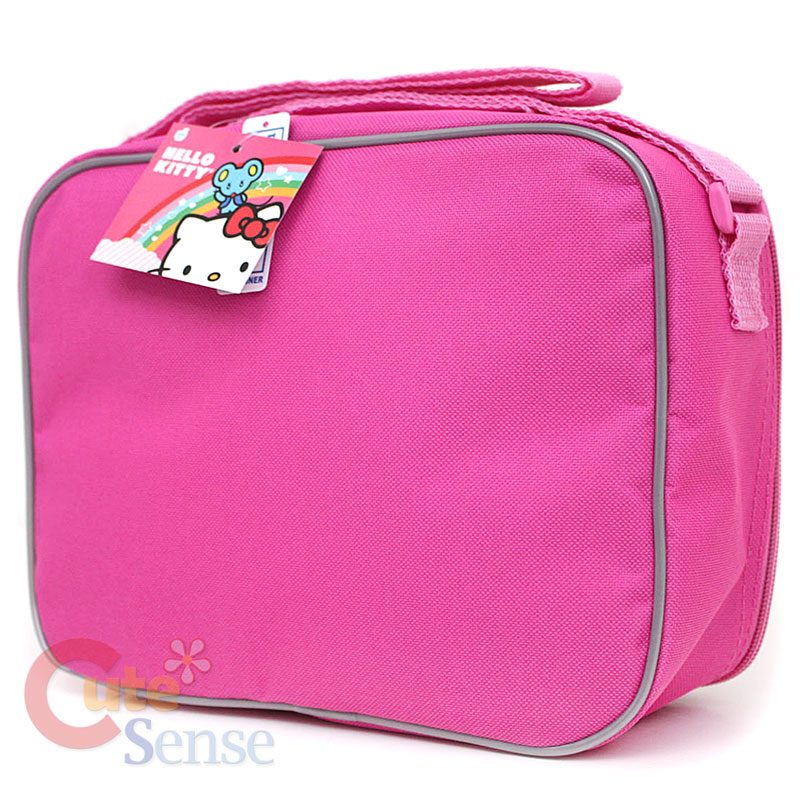 e0619da3e09 Large Rolling Backpack School Lunch Bag Set Pink Bow Trolley on ...