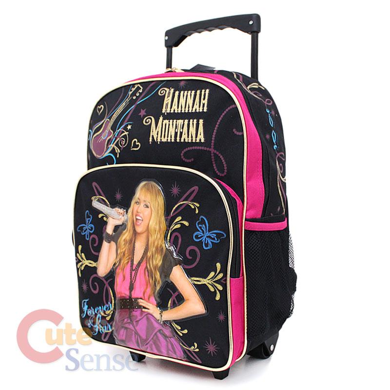 Disney Hannah Montana School Roller Backpack Large Rolling Bag