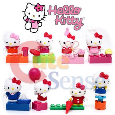Mega Bloks Sanrio Hello Kitty Series Mini Figure 8pc Collect Set