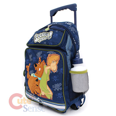 Scooby Doo & Shaggy School Roller Backpack Luggage Rolling Bag Large
