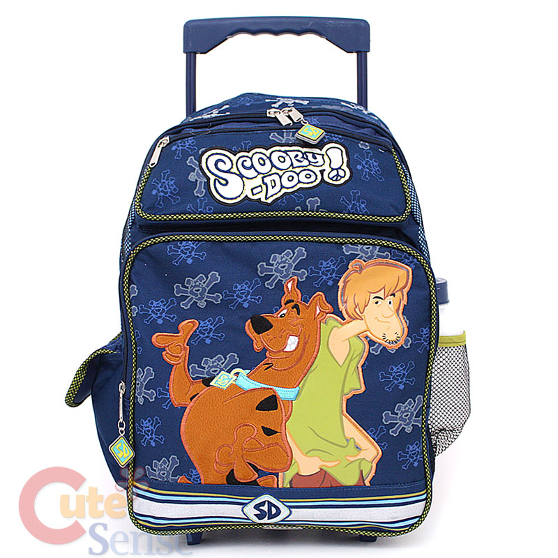 scooby doo shcool roller backpack rolling bag shaggy 1jpg