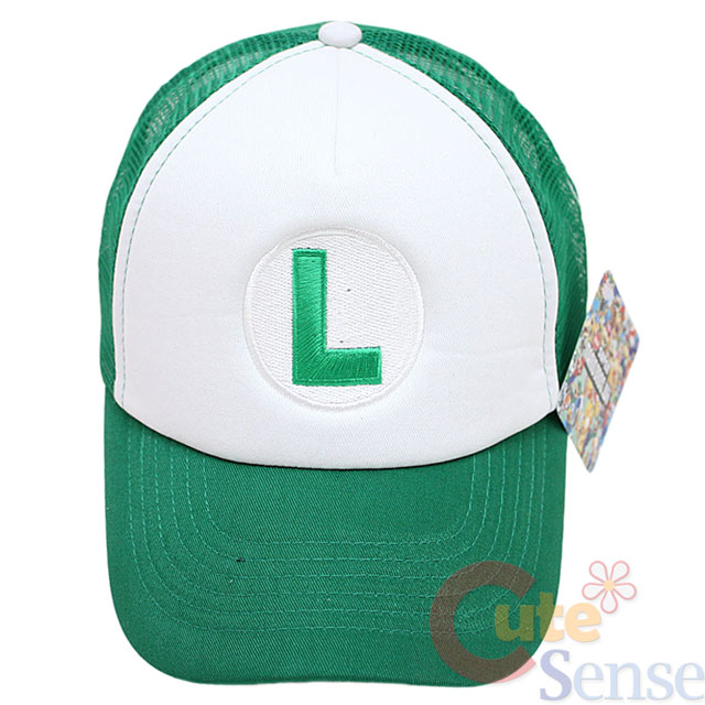 Super Mario Luigi Trucker Hat Baseball Cap Logo Mesh Back Adjust Hat