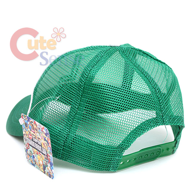 Super Mario Luigi Trucker Hat Baseball Cap Logo Mesh Back Adjust Hat