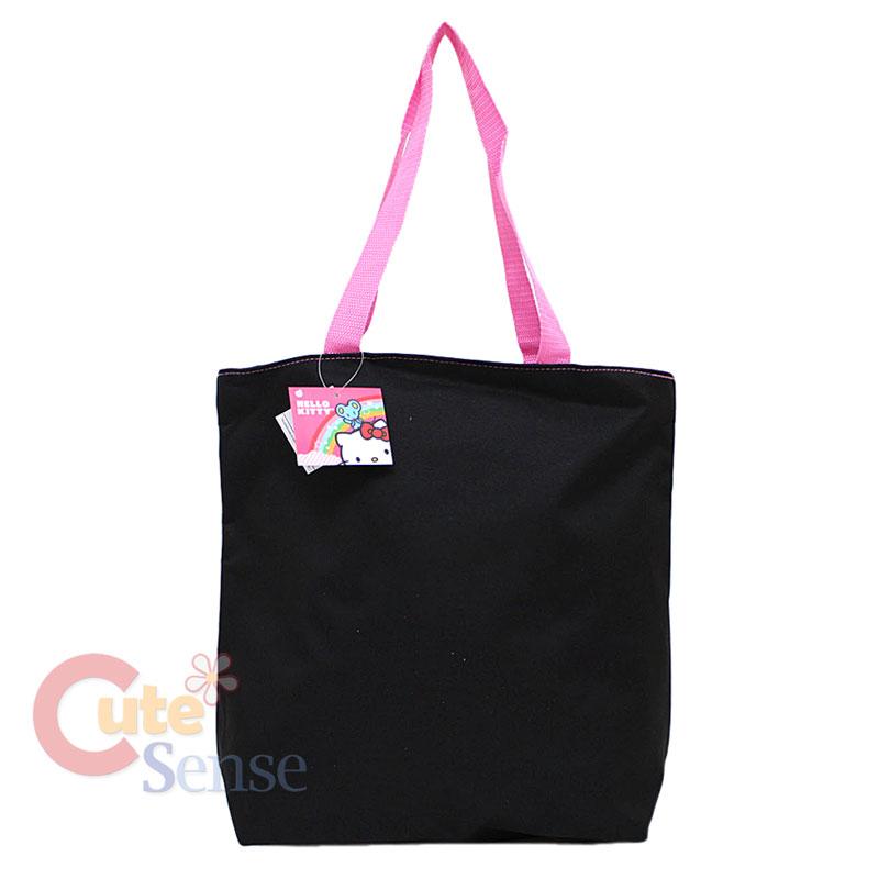 41d709c82b30 Sanrio Hello Kitty Tote Bag Shoulder Diaper Black Pink Glittering on ...