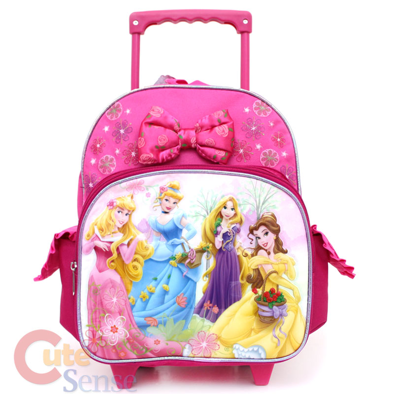 70ee24ea140 Disney Princess w Tangled School Roller Backpack 12 Medium Bag w Rose