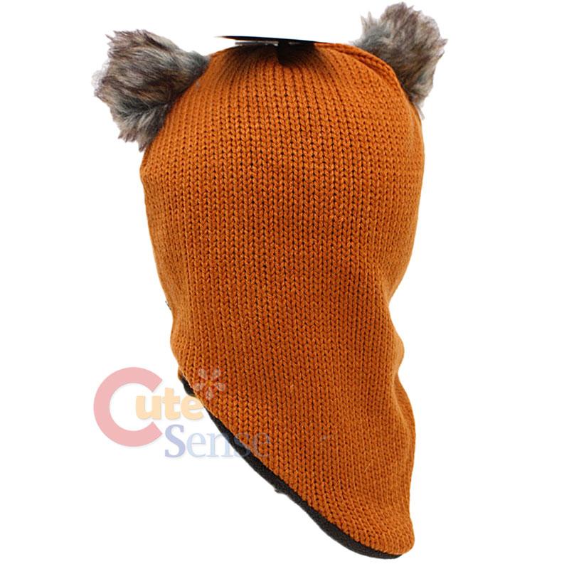 Star Wars Ewok Buddie Knitted Ski Mask Hat / Beanie : Teen