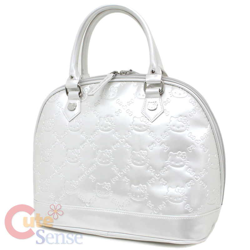 e6d4c5e8a8 Sanrio Hello Kitty Ivory Embossed Hand Bag Pearl White Loungefly on ...