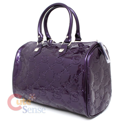 c86bcdd029 Sanrio Hello Kitty City Embossed Hand Bag Purple Loungefly Satchel ...