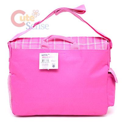 2067c78fdc Sanrio Hello Kitty School Messenger Bag Diaoer Bag Pink Flowers Teddy