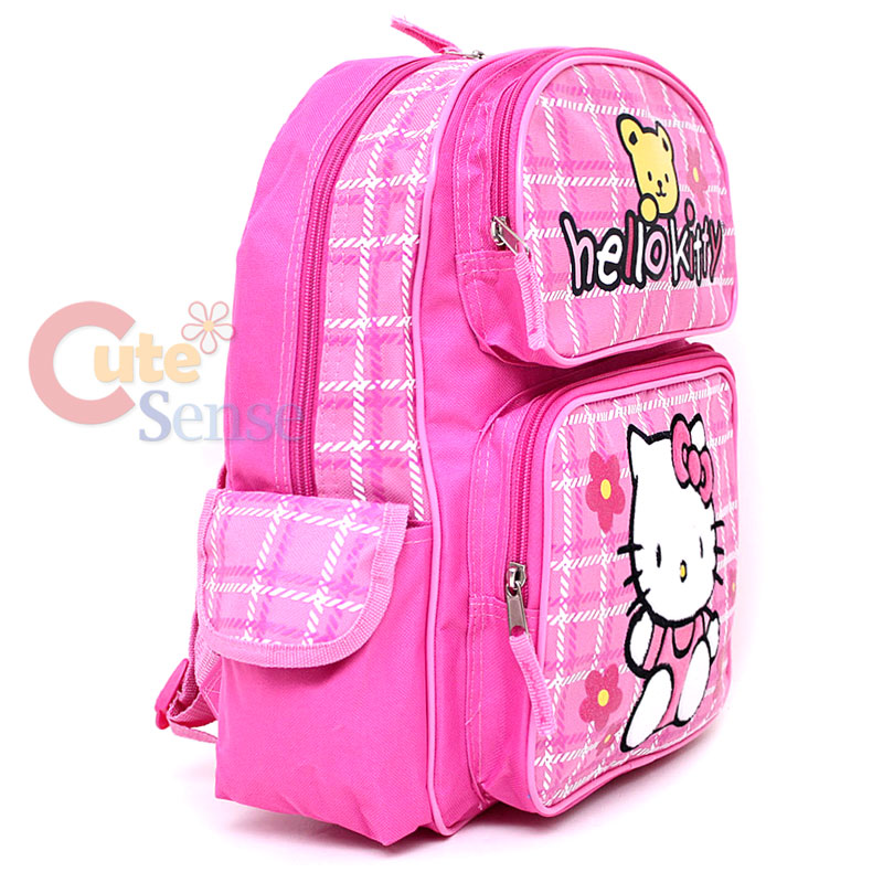 Sanrio Hello Kitty Large School Backpack and Lunch Bag Set ...