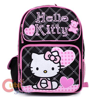 Sanrio Hello Kitty Large School Backpack Lunch Bag Set  Love Teddy
