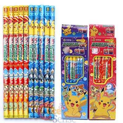 Pokemon Pikachu Lead Pencil Set -10pc Wooden Pencils Set Licensed