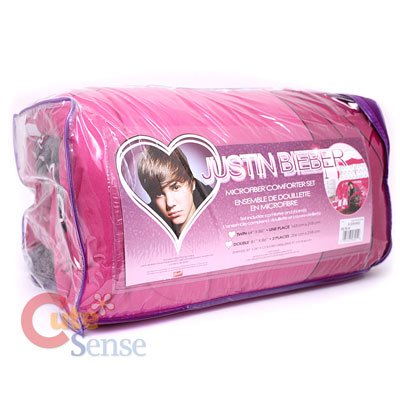 Justin Bieber Bedding on Justin Bieber Twin Microfiber Comforter Set Pink Comforter Pillow Sham