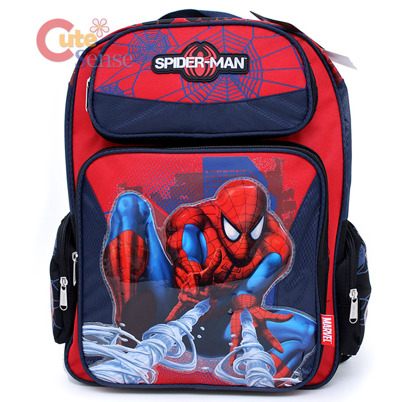 Details about SpiderMan School Large Backpack Lunch Bag Set-Slinger