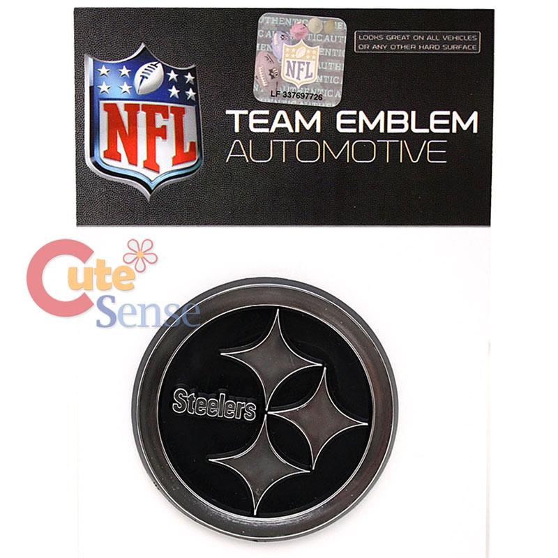 NFL Pittsburgh Steelers Team Logo Auto Car Emblem Auto Accessories Chrome Finish